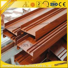 Clôture en aluminium de grain en bois avec ISO9001