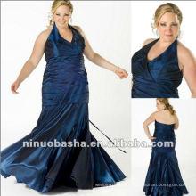 Taffeta Halter Top Evening Dress 2012
