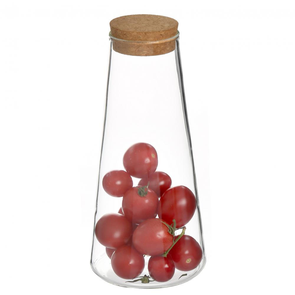 Conial Glass Jar with No BPA and Lead