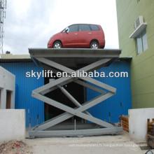 Ascenseur hydraulique de ciseaux de voiture utilisée pour la vente / ascenseur hydraulique de voiture