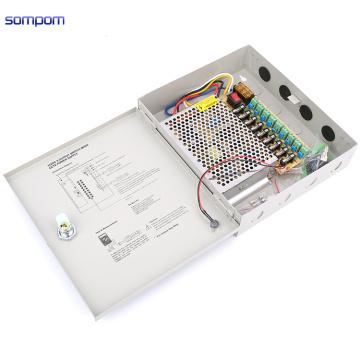 110V To 220V Sompom 12V 10A 9 Channel CCTV Camera Power Supply Security Box CCTV Accessories