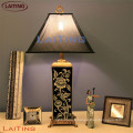 Vintage table lamp with antique light black shades black table lamp