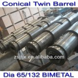 double-screw extruder conical twin screw cylinder