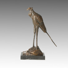 Sculpture en bronze animal Sculpture sur oiseaux Artisanat Statue en laiton Tpal-158