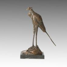 Животная бронзовая скульптура Птица с резьбой по дереву Латунная статуя Тпал-158