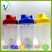 2016 novos produtos BPA free sport protein garrafa de vibração de plástico vazio para venda grossista
