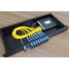 CWDM à fibre optique à 16 canaux avec connecteur LC / FC / Sc / St