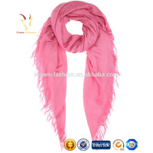 Pink Printing Knitting Fine Wool OEM Scarf for Women