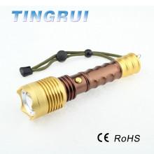Luz de alta potência 3.7V recarregável levou lanterna com bússola