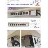 Side installation type Industrial Bench Power Strip