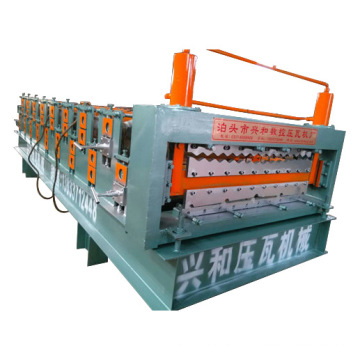 Double Deck Color Steel Roof Tile Forming Machinery