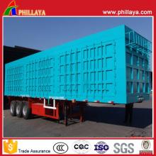 3axles контейнерного типа Насыпного груза трейлер