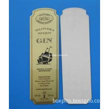Self Adhesive Metal Label Stick to Wine Bottle Wiskey Bottle