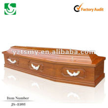 flat lid solid wood coffin JS-E095