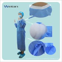 Bata cirúrgica descartável estéril para uso médico