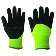 Foam Latex Work Glove of 3/4 Coateing for Keeping Warm (LY2039F)