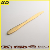 High quality golden color stainless steel single cutlery