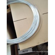 Shiny bright galvanized hanger wire