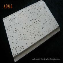 Panneau de plafond de fibre minérale acoustique pour la décoration intérieure