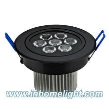 108 * 70mm 7W conduziu a lâmpada do teto conduzida para baixo luz