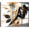 Handmade 3 peças de arte da lona Set Mulher nu pintura a óleo
