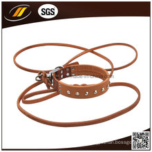 New Design Pet Products Leather Dog Collar and Leash Pet Accessories