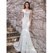 Alibaba China vestidos de noiva vestido de noiva cauda de peixe vestido de noiva padrões de vestido de casamento ocidentais feitos sob encomenda