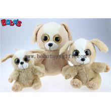 Big Eyesplush Hund Spielzeug Gefüllte Brown Sitting Hund Tier Spielzeug Bos1169