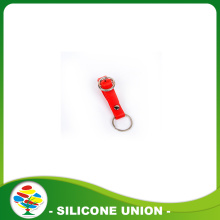 Desain New Custom Red Silicone Keychain
