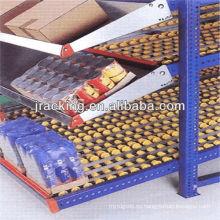 Estantes de acero inoxidable comerciales, estante de flujo de cartón de acero coloreado