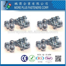 Feito em Taiwan Round Washer Truss Wafer Head Screws e personalizar Square Cone Dome Washers Assembleed SEMS Screws