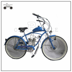 Wholesale 26 inch 50cc beach style gas engine motor cycles/ gas powered bicycles for sale
