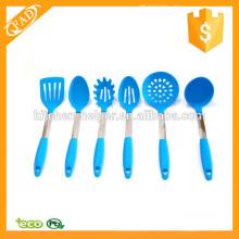 Set de regalo de herramientas de utensilios de cocina de silicona simple y saludable