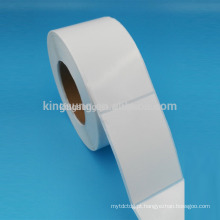 Em branco branco frete etiqueta autocolante