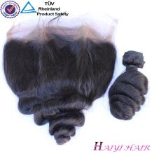 Оригинальный человеческих волос Индийский Реми волос 360 frontal шнурка свободная волна