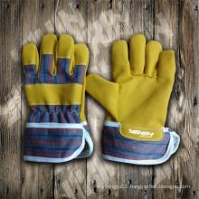 Children Glove-Yellow Micro Fiber Glove-Work Glove-Labor Glove-Safety Glove-Glove