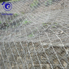Système actif de protection de pente / filet de maille de corde de spirale d'araignée / fabrication de Rockfall