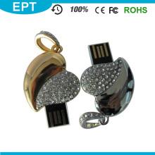 Schlüsselanhänger Diamant-Herzform USB-Flash-Laufwerk (EP048)