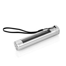 Solar Powered Aluminium Alloy High Power Waterproof Torch Light