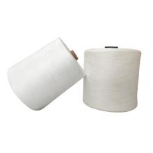 100% polyester ring spun yarn 40s2 raw white