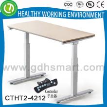 2015 Alibaba Verkauf nach Nordamerika America Height verstellbarer Schreibtisch mit guter Tischplatte aus Holz