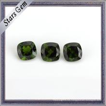 Cojín verde natural del jade corte la piedra preciosa del diópsido