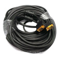 Long Gold Plated VGA SVGA Cable Cord HD15 Pin for Monitor Projector TV 1.5m,1.8m,2m,3m,5m,10m,20m,30m,40m,50m