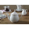 15 Stück billig Keramik weiß Porzellan Teekanne Set Tee-Set