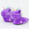 Hot selling unicorn design plush soft animal slippers