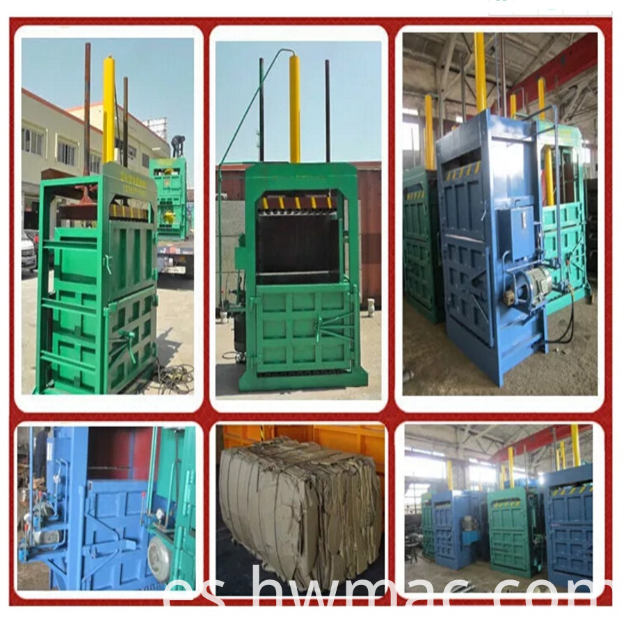 electric powered hydraulic industrial baler