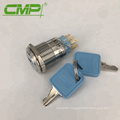 2 or 3 Position Waterproof IP40 Stainless Steel 1NO 1NC or 2NO 2NC Key Switch