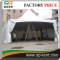 Aluminum structural waterproof hexagon pagoda tent for back yard party 6x12m