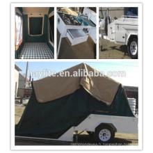 Remorque de camping pliante de luxe avec tente en toile à vendre HLT-04