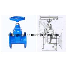 Nicht-steigende stammelastische weiche sitzende gap valve Bs 5163